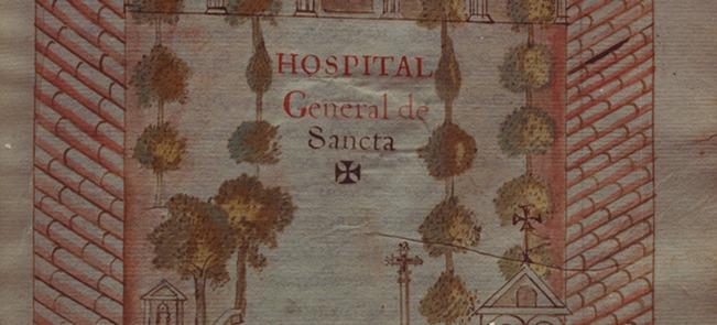 Plànol de l'Hospital Santa Creu, Barcelona.
