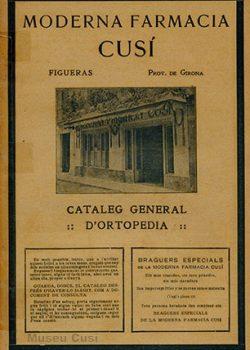 1913 Catàleg de productes ortopèdics de la Moderna Farmàcia Cusí
