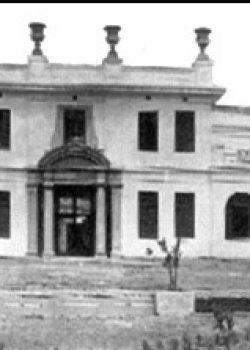 1925 Edifici dels Laboratorios del Norte de España. El Masnou. En un principi, l'edifici principal era simètric i a un costat hi havia el magatzem.