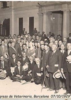 1929 Visita assistents Congrés de Veterinària, Barcelona.